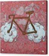 Bike-cloud Red - Da Acrylic Print