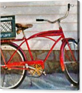 Bike - Delivery Bike Acrylic Print by Mike Savad