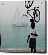 Bike Head In Key West Florida Acrylic Print