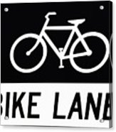 Bike Lane Acrylic Print