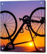 Bike On Seawall Acrylic Print