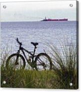 Bike On The Bay Acrylic Print