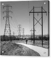 Bike Power On Platte Trail Acrylic Print