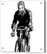 Bike Rider Acrylic Print by Karl Addison