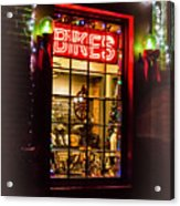Bike Shop Window Acrylic Print