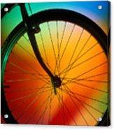 Bike Silhouette Acrylic Print by Garry Gay