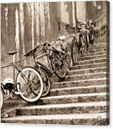 Bike Stairs Zurich Acrylic Print