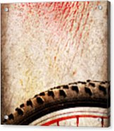 Bike Wheel Red Spray Acrylic Print