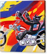 Biker Cat Acrylic Print