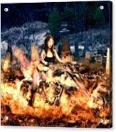 Biker Chick Acrylic Print