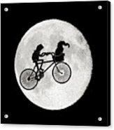 Biker Of The Moon Acrylic Print