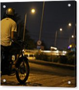 Biker Acrylic Print