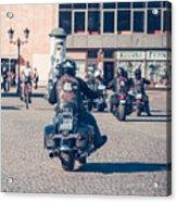Bikers In Gdansk Acrylic Print