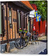 Bikes And Flags Acrylic Print
