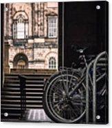 Bikes And University Acrylic Print