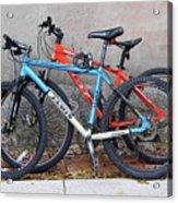 Bikes Left Alone Acrylic Print