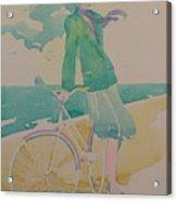 Biking By The Sea Acrylic Print