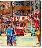 Biking  Past Ben Acrylic Print
