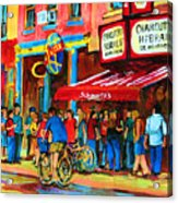 Biking Past The Deli Acrylic Print