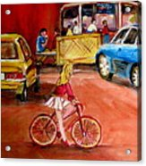 Biking To The Orange Julep Acrylic Print