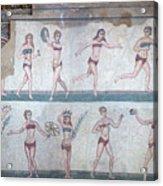 Bikini Girls Mosaic Acrylic Print