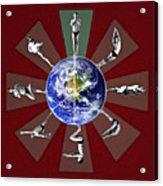 Bikram Yoga Acrylic Print