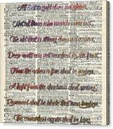 Bilbo Baggins Quote Vintage Art Acrylic Print