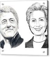 Bill And Hillary Acrylic Print