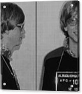 Bill Gates Mug Shot Horizontal Black And White Acrylic Print