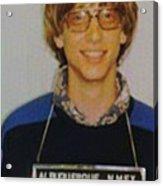 Bill Gates Mug Shot Vertical Color Acrylic Print