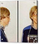 Bill Gates Post Impressionist Mugshot Acrylic Print