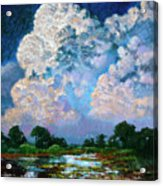 Billowing Clouds Acrylic Print