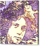 Billy Joel Pop Art Acrylic Print