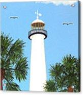 Biloxi Lighthouse Painting Acrylic Print