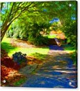 Biltmore Mansion Walking Path Acrylic Print