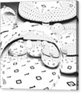 Binary Distortions Acrylic Print