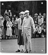 Bing Crosby And Ben Hogan Acrylic Print