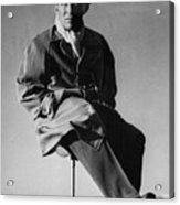Bing Crosby Pebble Beach Bw Acrylic Print
