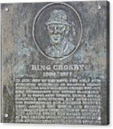 Bing Crosby Pebble Beach I Acrylic Print