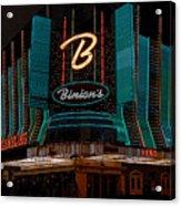 Binions Vegas Acrylic Print