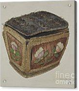 Birch Bark Sewing Basket Acrylic Print