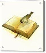 Bird and Book Acrylic Print