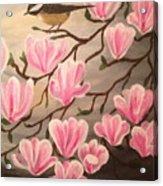 Bird And Flowers Acrylic Print