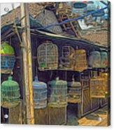 Bird Cages Vintage Photo Indonesia Acrylic Print