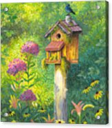 Bird House And Bluebird  Acrylic Print