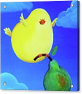 Bird In The Air Acrylic Print by Lael Borduin