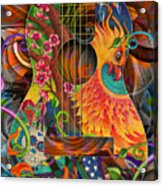 Bird Of Fire Guitar Acrylic Print