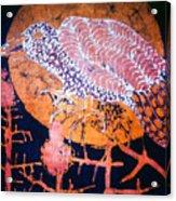 Bird On Thistle At Sundown Acrylic Print