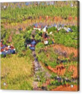 Bird Over Santa Rosa, Nbr 1e Acrylic Print