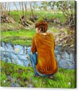 Bird Watching By The Creek Acrylic Print